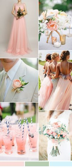 TBQP309 pink wedding color ideas matched tulle pink bridesmaid dress