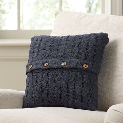 Colette Cable-Knit 100% Cotton Pillow Cover