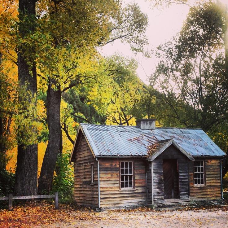 Cabin in Autumn. Arrowtown, New Zealand.