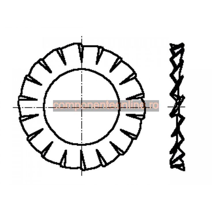 Saiba dintata in exterior, 3,2x6mm, otel zincat, Bossard - 007254