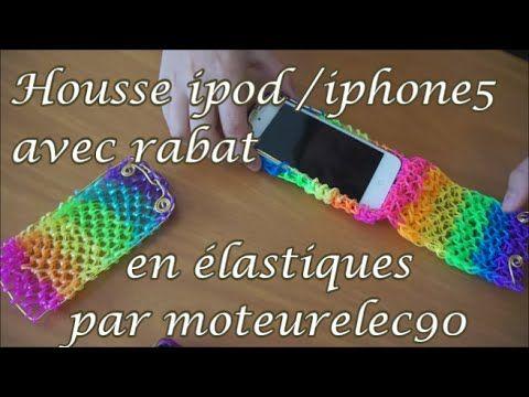 "Tuto housse en ""rainbow loom"" à rabat iPhone 5 How to make a iPhone case ? - YouTube"