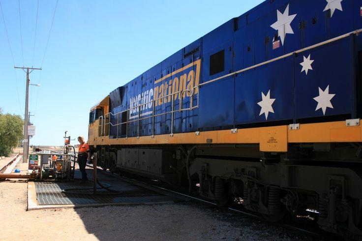 The Indian-Pacific train, Australia.