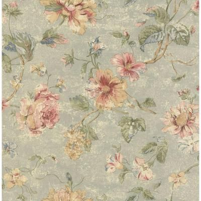 Brewster 56 sq. ft. Rose Floral Wallpaper-282-64028 - The Home Depot