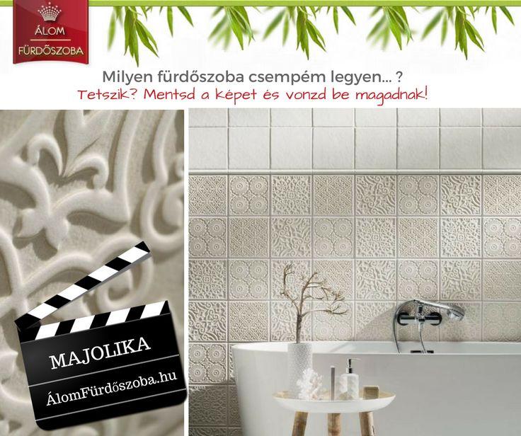 Stúdiónk kedvence, az új ♥ Majolika csempék ♥, számos izgalmas dekorral. Bemutatótermünkben megtekinthető. http://alomfurdoszobak.hu/hu/1367-majolika-ujdonsag-akcio