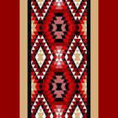Renkli kırmızı beyaz ve siyah Aztek süsler geometrik etnik sorunsuz sınır, vektör — Stok Vektör