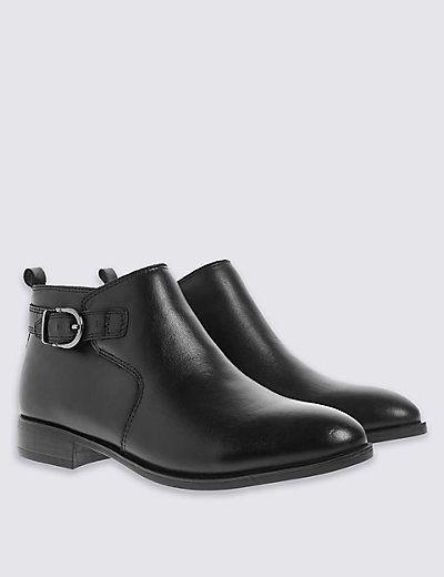 Leather Ankle Boots | M&S
