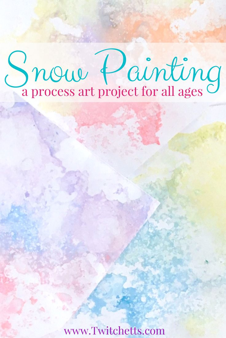 Colored Salt Snow Art - Winter Crafts for Kids a fun Process art Project for kids of all ages, from toddler, to preschool, and up through adults!
