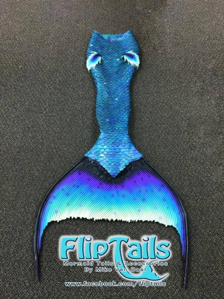Mermaid Shannons beautifully crafted tail made by Mike Van Daal from Fliptails!