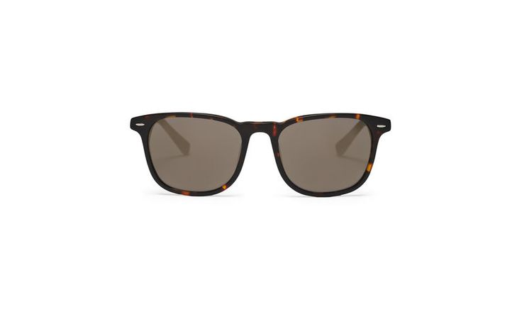 D-Frame Matte Sunglasses, in Brown on Whistles