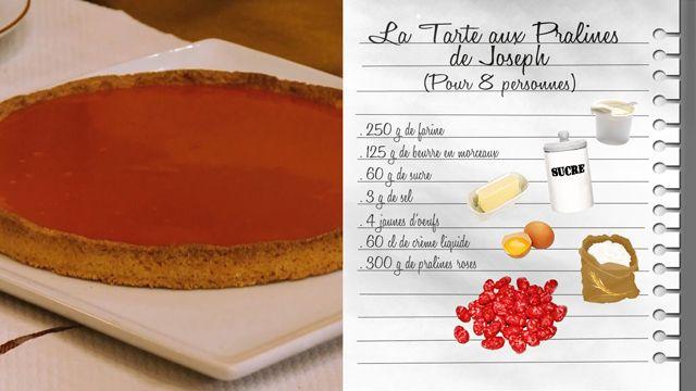 La tarte aux pralines de Joseph, le chef du bouchon Denise et Daniel - Recettes - Les Carnets de Julie - France 3