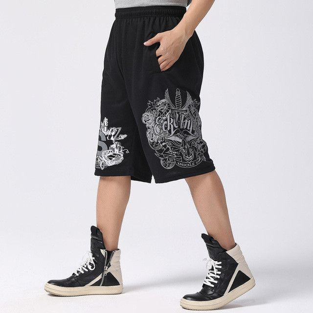 2017 fashion brand summer hip hop plus size casual male men jogger clothing exercise shorts men homme bermuda masculina A226
