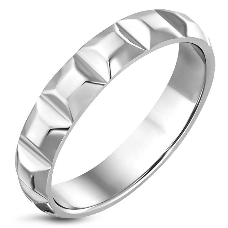 Stalen ring dames - Maat 16