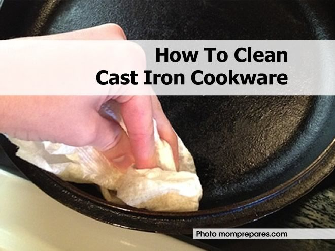 How To Clean Cast Iron Cookware - http://www.hometipsworld.com/how-to-clean-cast-iron-cookware.html