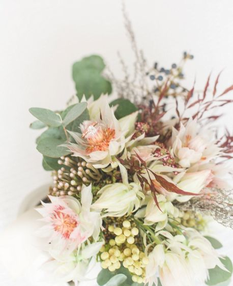 Textured bridal bouquet we did. Photo by Leanne Love.