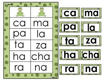 $3 Palabras con a. Aprendiendo a leer silabas con a. Spanish