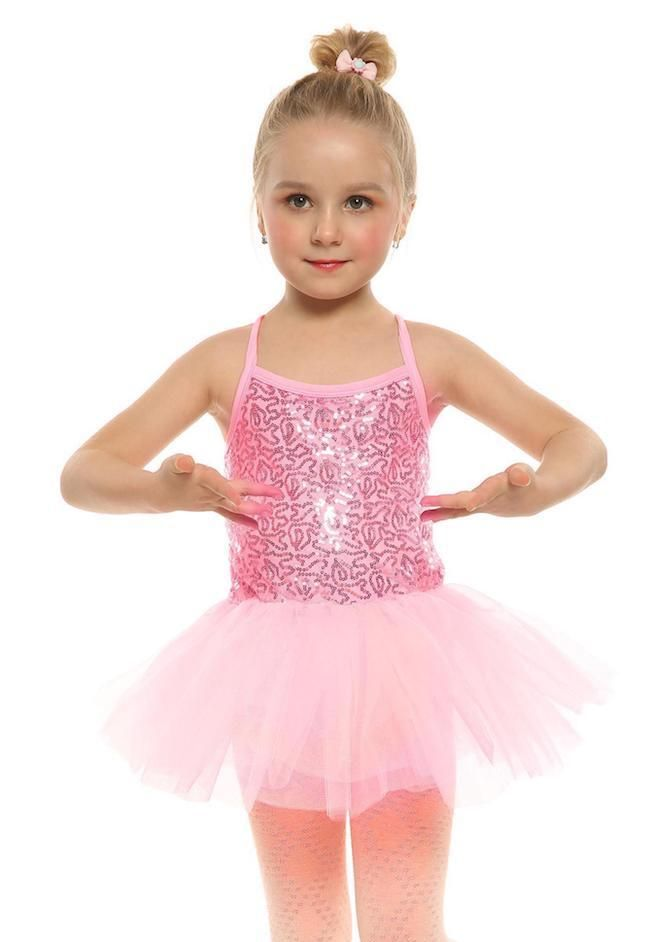 fca8ec653091 New Kids Girl Spaghetti Strap Sequined Patchwork Multi Layer Ruffle Ball  Gown Dress