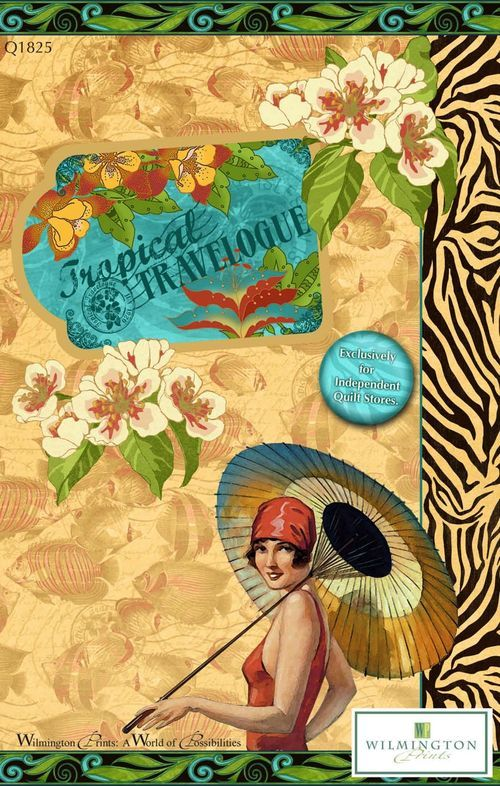 New Glorious Graphic 45 Fabric From Wilmington Prints!  Graphic45