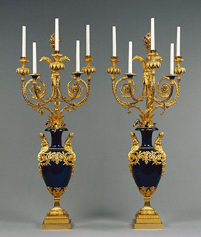 1784-1786 French Candelabra at the J. Paul Getty Museum, Los Angeles