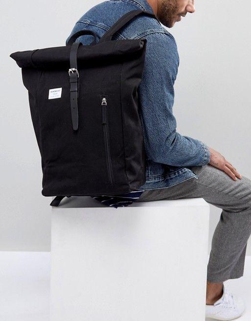 d7ec85670fb9 Sandqvist Dante Rolltop Backpack In Black