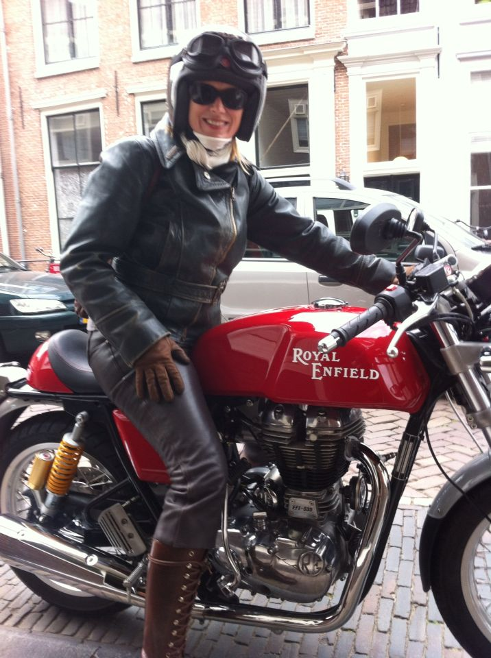 Happy girl on her new bike.