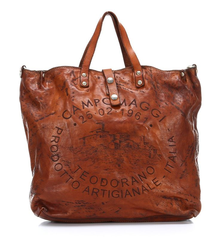 Campomaggi Lavata Teodorano Tote Leather cognac 40 cm - C2068VL-1702 - Designer Bags Shop - wardow.com