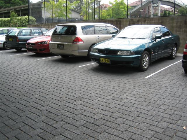 HydroSTON permeable concrete pavers used for a carpark at Newington College, Stanmore NSW, Australia