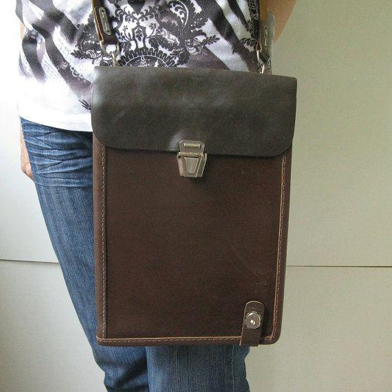 Unused Vintage Leather Bag, Retro Handbag, Messenger Men Bag, Vintage Army Bag, Handbag for Men, Brown Leather Bag, Genuine Leather Bag