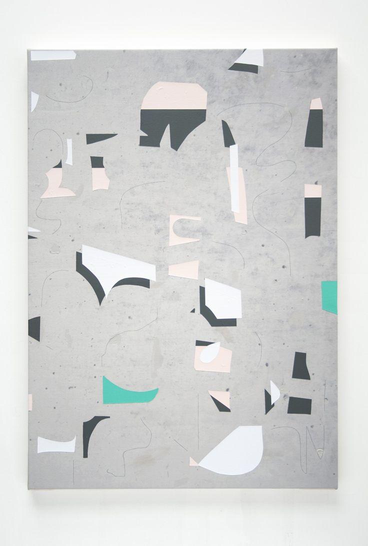 Luke Rudolf - Fragments II, 2016 / acrylic and UV ink on canvas / 100 x 70 cm