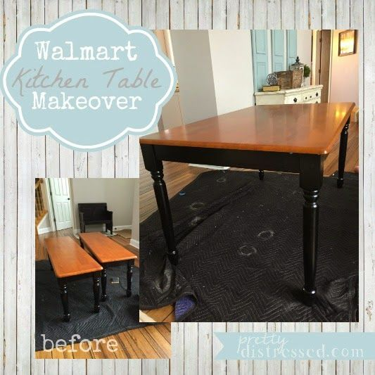 Kitchen Table And Chairs Makeover: Walmart Kitchen Table Makeover
