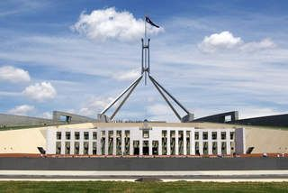 Australian government size quite low by international standards.