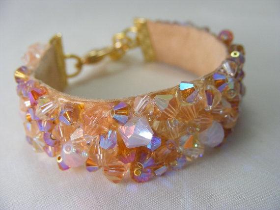Peach Paradise - Swarovski Crystal Bracelet
