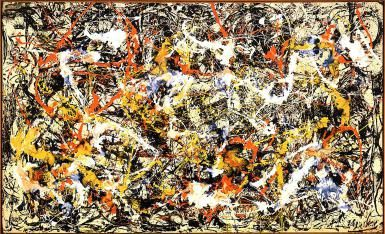 What Makes Abstract Expressionism?: Jackson Pollock (American, 1912-1956). Convergence, 1952. Oil on canvas. 93 1/2 x 155 in. (237.5 x 393.7 cm). Gift of Seymour H. Knox, Jr., 1956. Albright-Knox Art Gallery, Buffalo, N.Y.