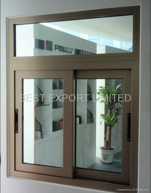 sliding glass office reception windows stationary panel aluminum window champagne color google search portas janelas pinterest doors window casing and frames
