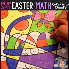 Easter-themed math fact coloring sheets. These fun Pop Art style MATH FACT coloring sheets feature addition, subtraction, multiplication and division practice. They provide review for addition up to 20, subtraction from as high as 25 and all the 2s-9s times tables in the multiplication and division sheets.