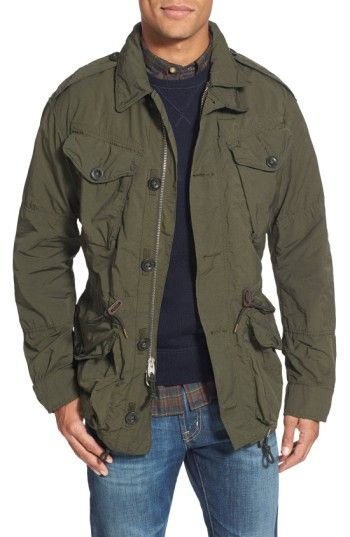 295300f39 Free shipping and returns on Polo Ralph Lauren Twill Combat Military Jacket  at Nordstrom.com. Designed with military features