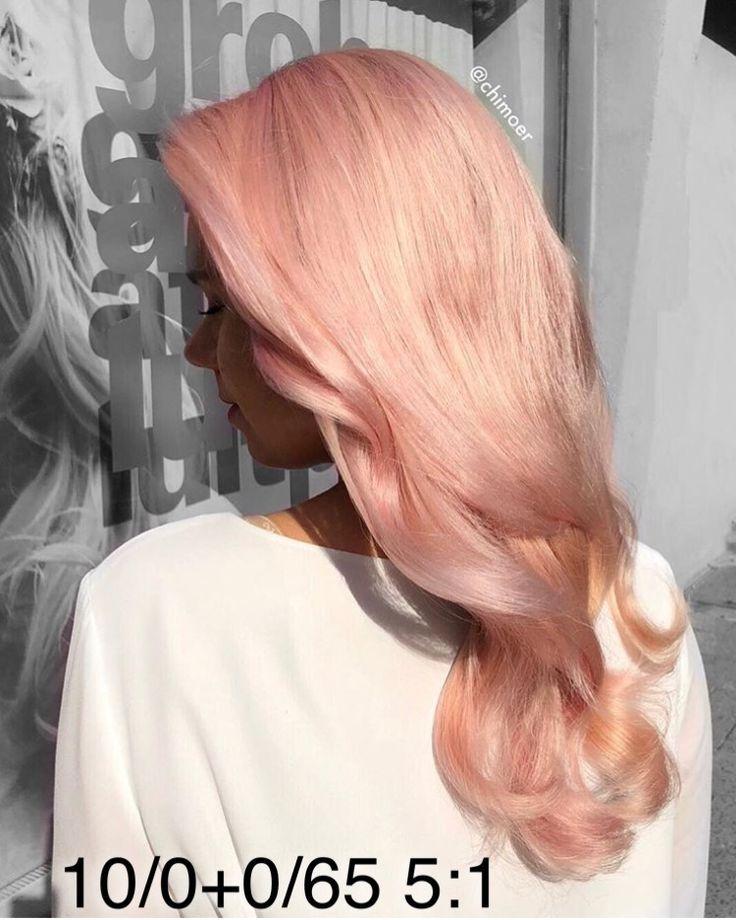 Pastel pink Wella Illumina color toner formula – #…