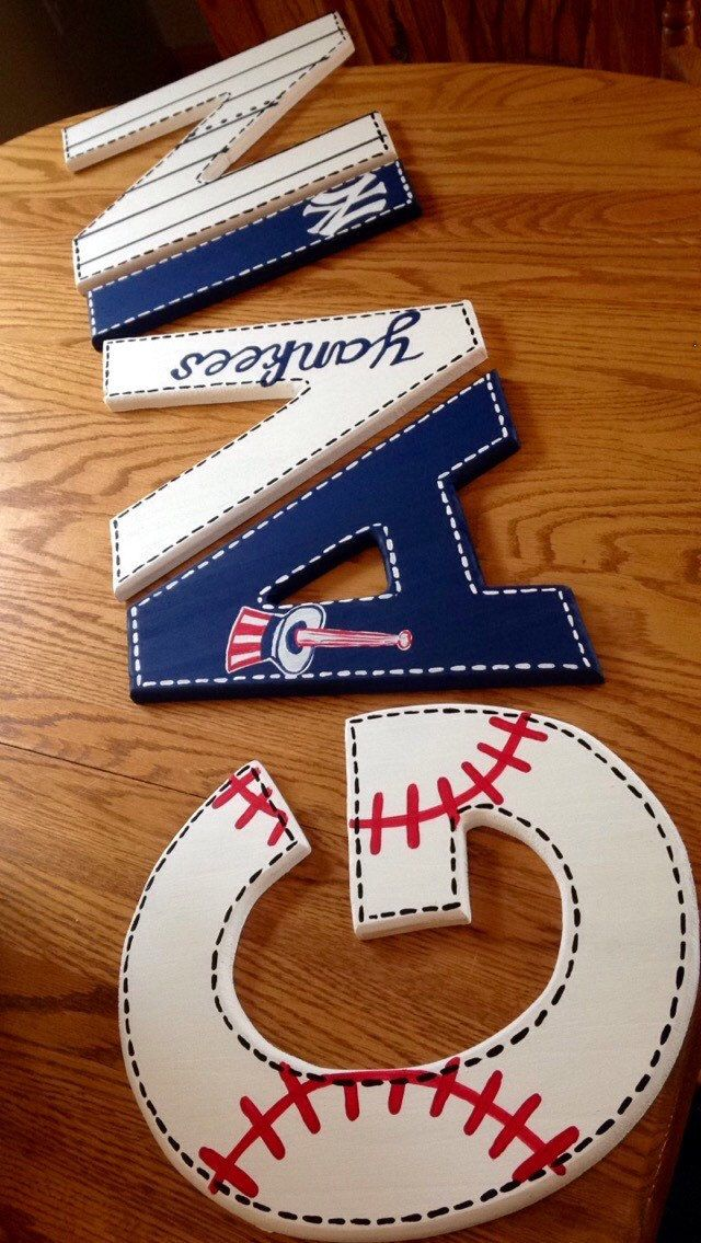 "12"" Wooden NY Yankees Letters for nursery or child's room"