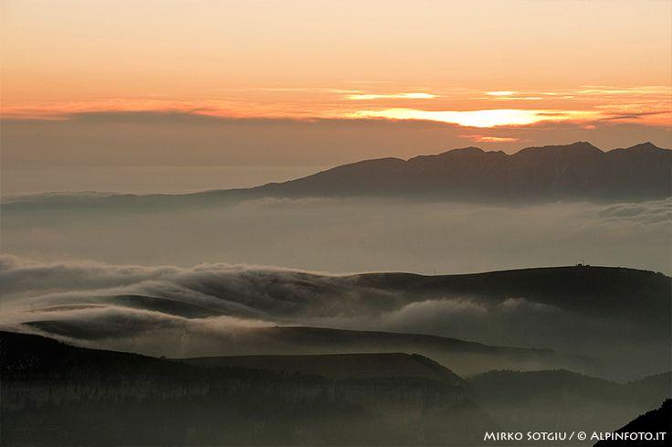 Sunset on Lessini Regional Park