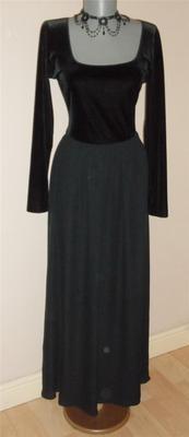 Laura Ashley vintage BLACK VELVET & Silk