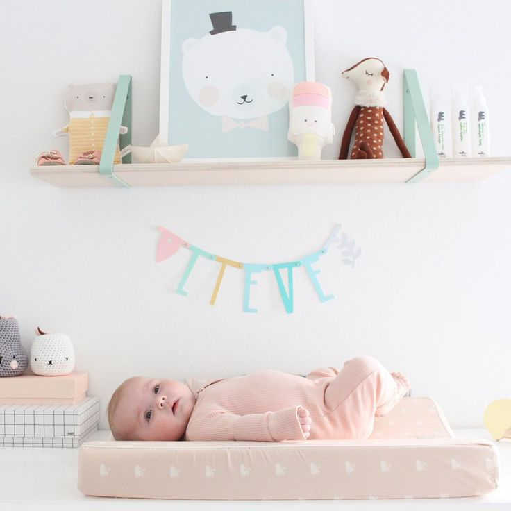 A cute and cozy way of decorating with soft pastels!  ferm LIVING Shelf & Shelf Hangers - http://www.fermliving.dk/webshop/webshop.aspx?eComSearch=True&ID=247&eComQuery=Shelf