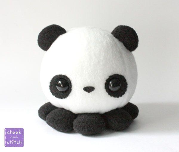 Pandapus Panda Octopus Plush by yumcha.deviantart.com