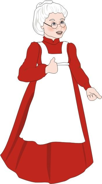 MRS CLAUS from Paper Dolls by Gail 1 of 4