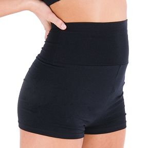This High Waist Dance Short from Just For Kix is ultimate in comfort and style. Wear it at the waist or roll it down by the hips.