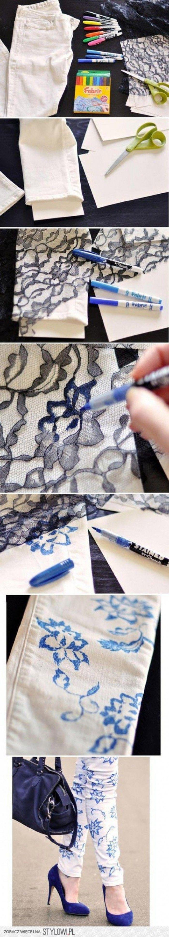 Coole Idee um alte Klamotten zu verschönern