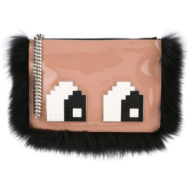 Les Petits Joueurs envelope small eyes clutch (9.045.205 VND) ❤ liked on Polyvore featuring bags, handbags, clutches, nude, nude clutches, patent purse, red patent leather handbag, nude purses and patent leather clutches