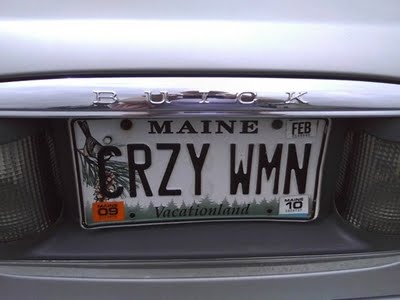Vanity Plates: Creepiness in 8 Characters or Less: September 2009