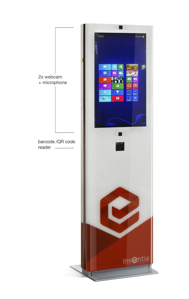 """""""Explora Totem"""" touch screen 32"""" customized for """"Inventia"""""""