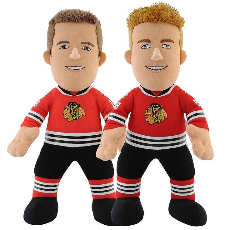 Bleacher Creatures Chicago Blackhawks Jonathan Toews & Patrick Kane Plush Player Set, Multicolor
