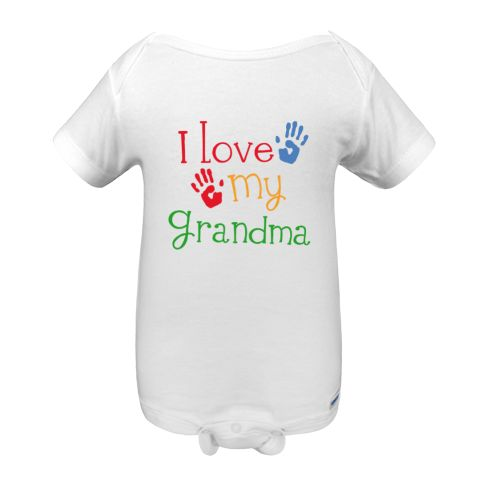 cute design for grandkids has i love my grandma quote on