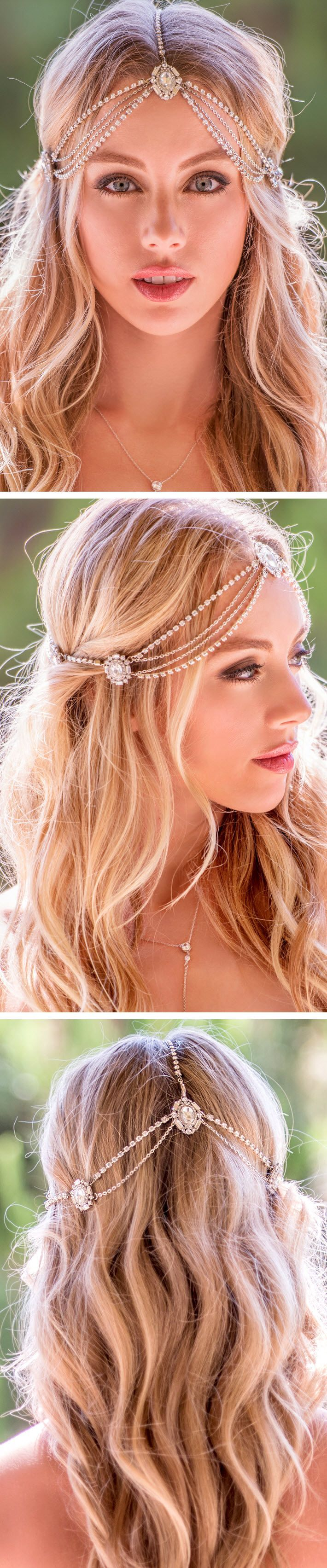 Silver Crystal Headpiece, Bridal Crystal Headpiece, Silver Bridal Headpiece, Wedding Head Jewelry, Silver Wedding Jewelry, Crystal Bridal Jewelry